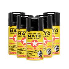 Pfefferspray Nato 50ml Extreme Pepperspray Abwehrspray Fog 5 Stück im Set