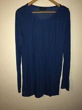 Mamalicious Jersey Maternity Top Size XL Blue Long Sleeve <R6210