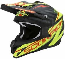 Cross ENDURO casco MOTO integrale Scorpion VX-15 EVO Air GAMMA nero GIALLO ->S