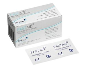 100 Pre-Injection Swabs FastAid IPA Alcohol Wipes Hijama Piercing Medical Tattoo