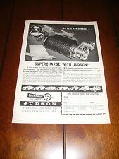 1961 JUDSON SUPERCHARGER MGA TR3  SPRITE VW MGA RENAULT VOLVO ***ORIGINAL AD***