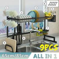 Stainless Steel Dish Rack Cup Shelf Rack Kitchen Drainer Dryer Tray Holder 80KG