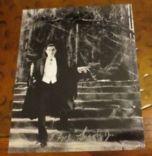 Photo of Bela Lugosi signed autographed by his son Bela Jr most famous Dracula