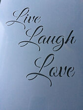 Live Laugh Love Valentine Day A4 Mylar Reusable Stencil Airbrush Painting Art