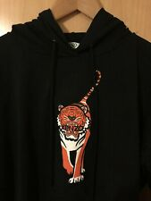 New Kenzo 🐅 Walking Tiger Black Hoodie Sweatshirt Sweater Unisex, Size S BNWOT
