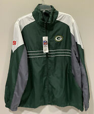 NWT Reebok Green Bay Packer NFL SI Adult Large Thin Windbreaker