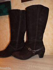 Feminine JJFW Stiefel 2/3 XW Wadenweite NEU Gr. 44 dunkelbraun & Velours Leder