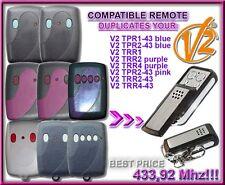 V2 TRR1,2,4-43 V2 TRR2,4 PURPLE Compatibile Telecomando, Clone 433,92Mhz