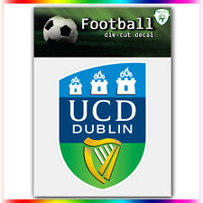 "University College Dublin AFC UEFA Die Cut Vinyl Sticker Car Bumper Window 4""x3"""