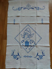 Überhandtuch;Baumwolle;Stickerei;handarbeit; Hollandmädchen