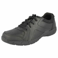 Leather Upper Narrow Shoes for Boys with Laces