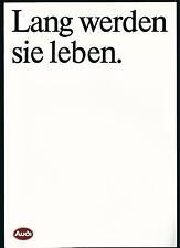 AUDI < LANG vont vous vie > prospectus 1985 (brochure)