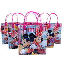 "Disney Mickey Minnie Mouse Party Gift Bag Set of 6pc 8.5"" Reusable Tote Bag"