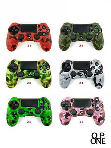 PS4 Silicone Camouflage Skin Cover Case For Playstation 4 / Slim Controller
