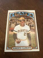 1972 Topps Roberto Clemente Pittsburgh Pirates #309 Baseball Card VG+- EX