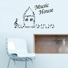 Wall Vinyl Sticker Decals Audio Music House Sign Quote Notes Note (Z2775