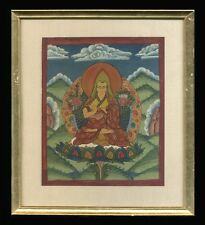 Mid to Late 20th C Tempra Painting Sakya Pandita Kunga Gyeltsen Buddhist Scholar