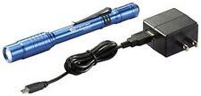 Streamlight 66139 Blue Stylus Pro USB Flashlight w/120V AC Adapt, USB Cord