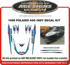 1998 POLARIS INDY 440 DECAL KIT graphics reproduction