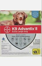 K9 Advantix II 4-pk for XL dogs 55+ lbs *EPA APPROVED/FREE SHIPPING from USA*