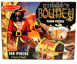 Melissa & Doug Pirate's Bounty Floor Puzzle 100 Pieces Easy Clean 2'  x  3'