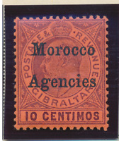 Great Britain, Offices In Morocco Stamp Scott #21, Mint Lightly Hinged