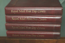 BOX WITH 4 X ROYAL MAIL COVER ALBUMS + INSERTS - EMPTY