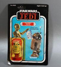 VINTAGE STAR WARS R2-D2 with SENSORSCOPE ACTION FIGURE 77 BACK KENNER MOC ROTJ