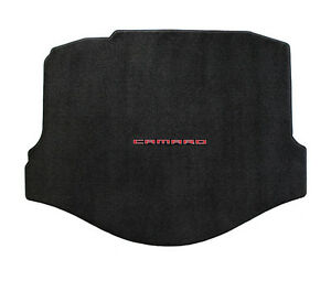 NEW! 2010-2015 Chevy Camaro Rear Deck trunk Mat Back carpet with script logo Red