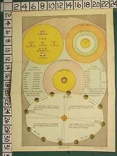 Impresión De 1906 ~ astronomía temporadas equinoccio el Sol Planetas distancia de Sun