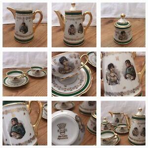 service à café en porcelaine Napoléon et Joséphine