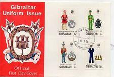 Gibraltar Uniformes Militares Sobre primer día año 1972 (DE-442)