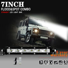 18W 7inch Cree Led Work Light Bar Flood Spot Suv Boat Driving Lamp Offroad 4WD