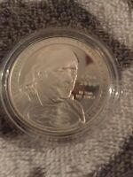 1706-2006 Benjamin Franklin Commemorative Proof Silver Coin In OGP