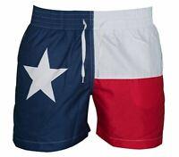 NEW Meripex Apparel Men's Swim Trunks: Texas Flag