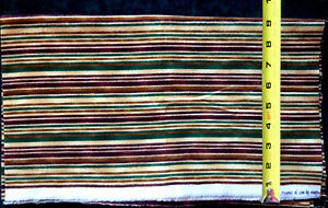 """Presence of Line"" Striped Flannel (with green) by Maywood Studio. #239. 1 Yard"