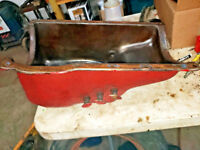 McCormick Farmall F12 Tractor IH engine oil pan & pet cocks & oil plug ihc F14
