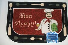 NEW  FAT CHEF TAPESTRY KITCHEN ACCENT RUG MAT 20 X 30 INCHES  003