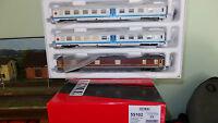 "ACME 55102 Set ""Treno pellegrini"", 2 BM barellate livrea bianca + bagagliaio"