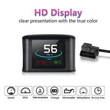 COCHE HUD LED Cabeza Up Pantalla OBD Lector OBD2 Digital velocímetro Detector
