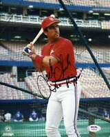 Jack Clark PSA DNA Coa Hand Signed 8x10 Cardinals Photo Autograph