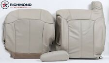 2002 Cadillac Escalade -Driver Side Complete PERFORATED Leather Seat Covers TAN