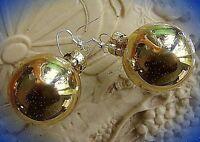 ★edle christbaumkugel weihnachts ohrringe golden silber 925 haken 3cm