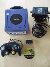 console NINTENDO GAME CUBE bleu + CABLAGE D ORIGINE + jeu + manette