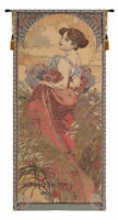 Mucha Summer I European Tapestry Wall Hanging