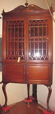 HUGE ANTIQUE NEUMAN & CO N.Y. CORNER DISPLAY CABINET HIGH CLAW FOOTED LEGS 4638