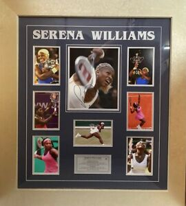 SERENA WILLIAMS Autograph Signed Photo 8x10 Tennis Collage FRAMED Plaque COA