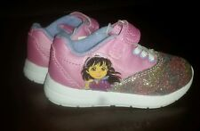 Dora And Friends Toddler Sneakers Shoes. Girls Size 8. Pink. Glitter. EUC.