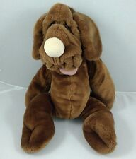 Vintage The Heritage Collection Wrinkles Brown Dog Plush Animal Hand Puppet 18""