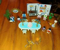 Mixed Lot Playmobil Kitchen, Wedding, People Figures Plus